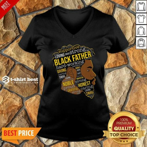 Black Father Giving Working V-neck - Design By 1tees.com