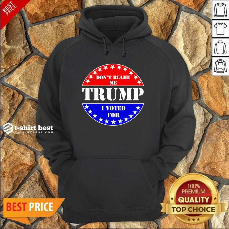 Don't Blame Me I Voted For Trump Hoodie - Design By 1tees.com