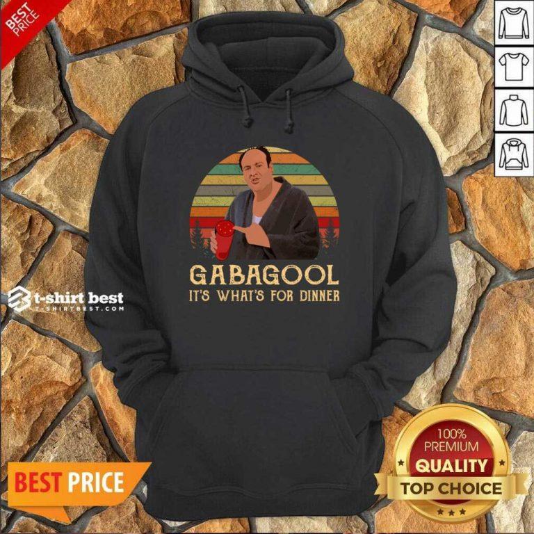 Gabagool It's What's For Dinner Vintage Hoodie - Design By 1tees.com