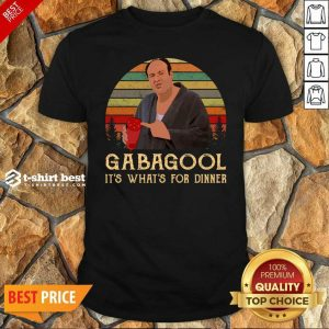 Official Gabagool It's What's For Dinner Vintage Shirt - Design By 1tees.com