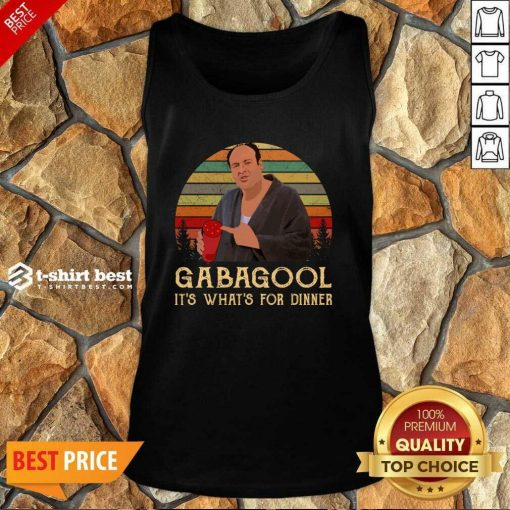 Gabagool It's What's For Dinner Vintage Tank Top - Design By 1tees.com