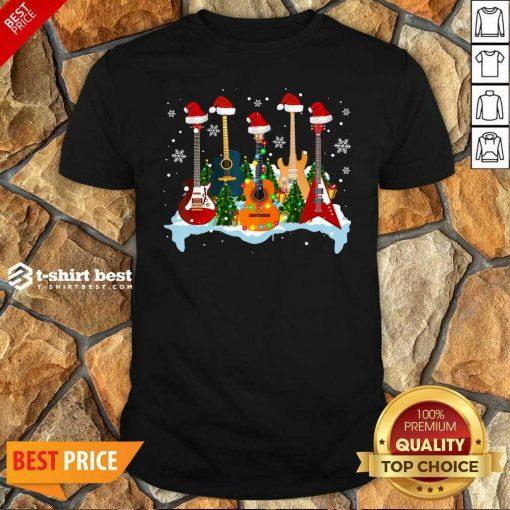 Guitar Hat Santa Merry Christmas 2020 Shirt - Design By 1tees.com