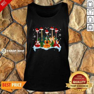 Guitar Hat Santa Merry Christmas 2020 Tank Top - Design By 1tees.com