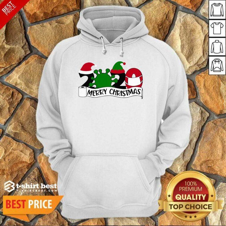 Merry Christmas 2020 Santa Elf Coronavirus Hoodie - Design By 1tees.com
