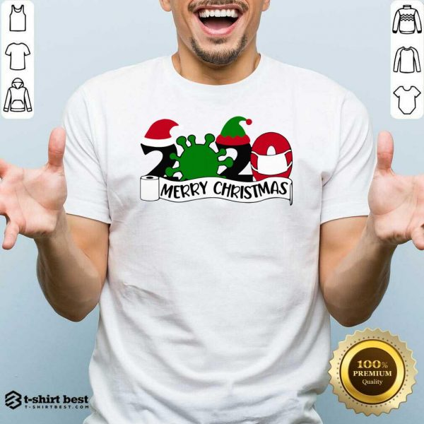 Official Merry Christmas 2020 Santa Elf Coronavirus Shirt - Design By 1tees.com