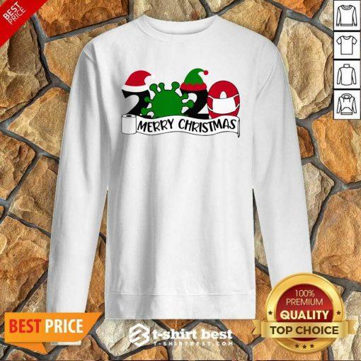Merry Christmas 2020 Santa Elf Coronavirus Sweatshirt - Design By 1tees.com