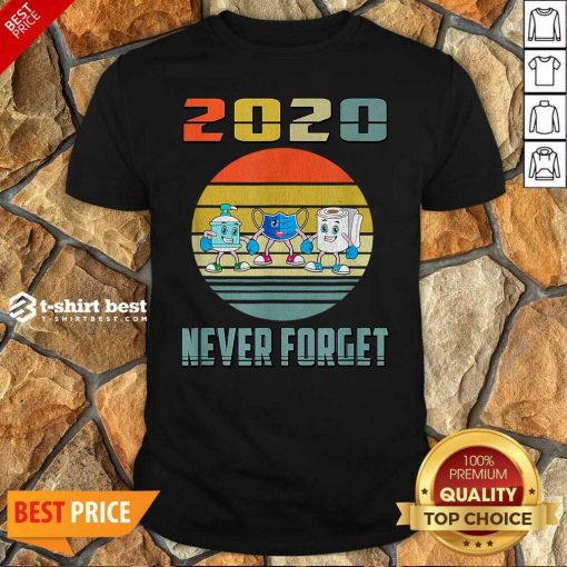 Official Never Forget 2020 Mask Toilet Paper Vintage Shirt - Design By 1tees.com