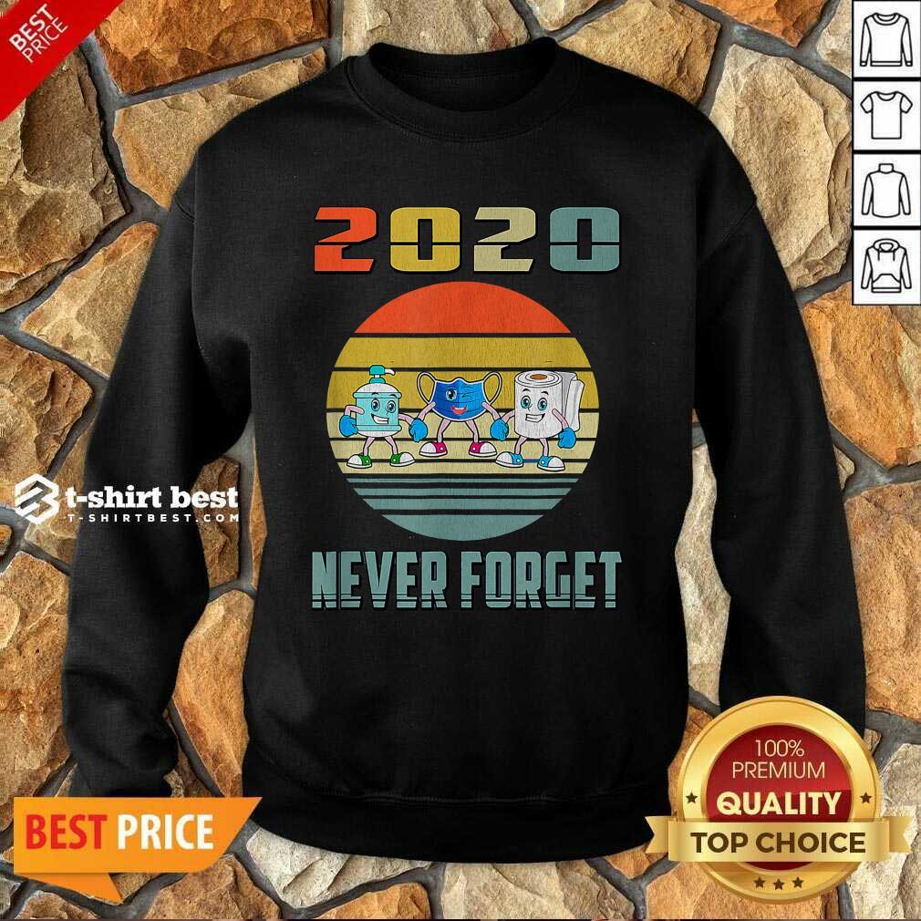 Never Forget 2020 Mask Toilet Paper Vintage Sweatshirt - Design By 1tees.com