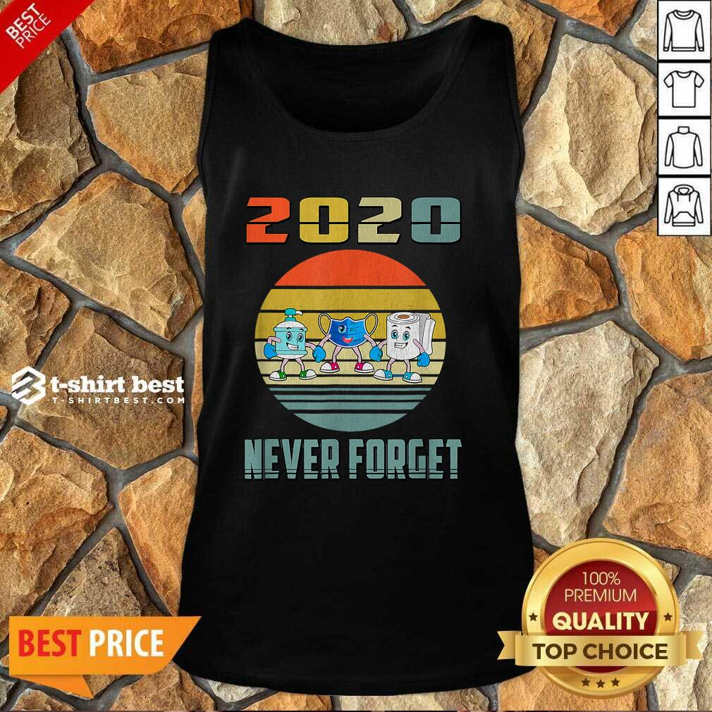 Never Forget 2020 Mask Toilet Paper Vintage Tank Top - Design By 1tees.com