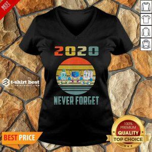 Never Forget 2020 Mask Toilet Paper Vintage V-neck - Design By 1tees.com