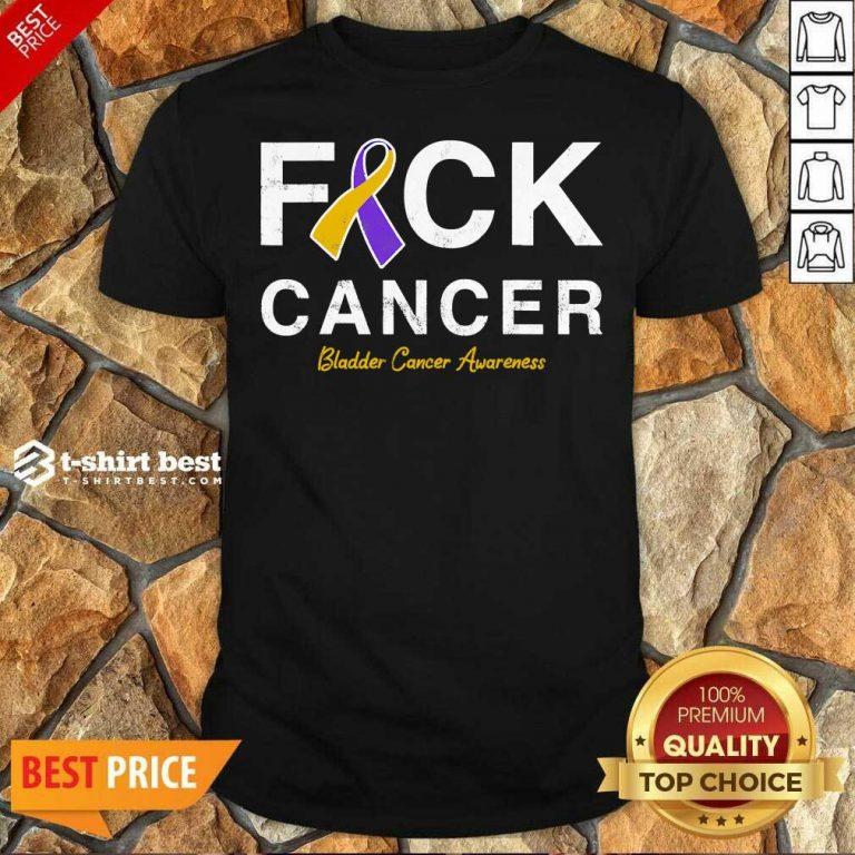 Official Raise Support Bladder Ribbon Cancer Awareness Pun Shirt - Design By 1tees.com