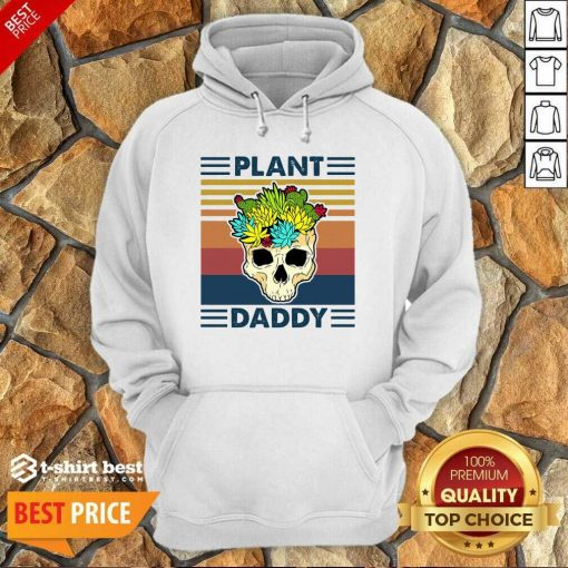 Skull Plant Daddy Vintage Retro Hoodie - Design By 1tees.com