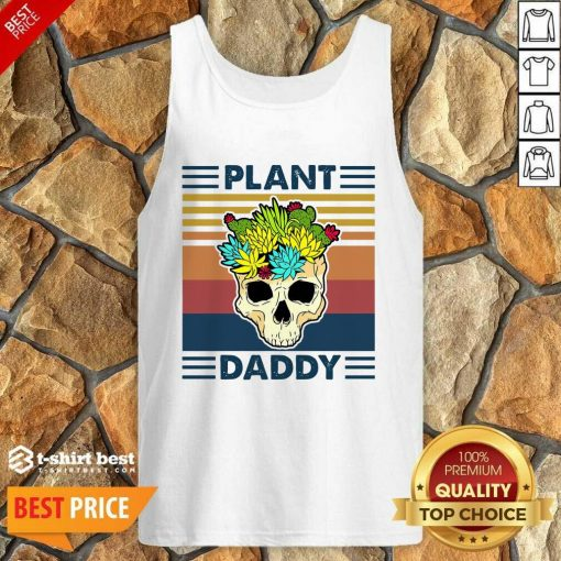 Skull Plant Daddy Vintage Retro Tank Top - Design By 1tees.com