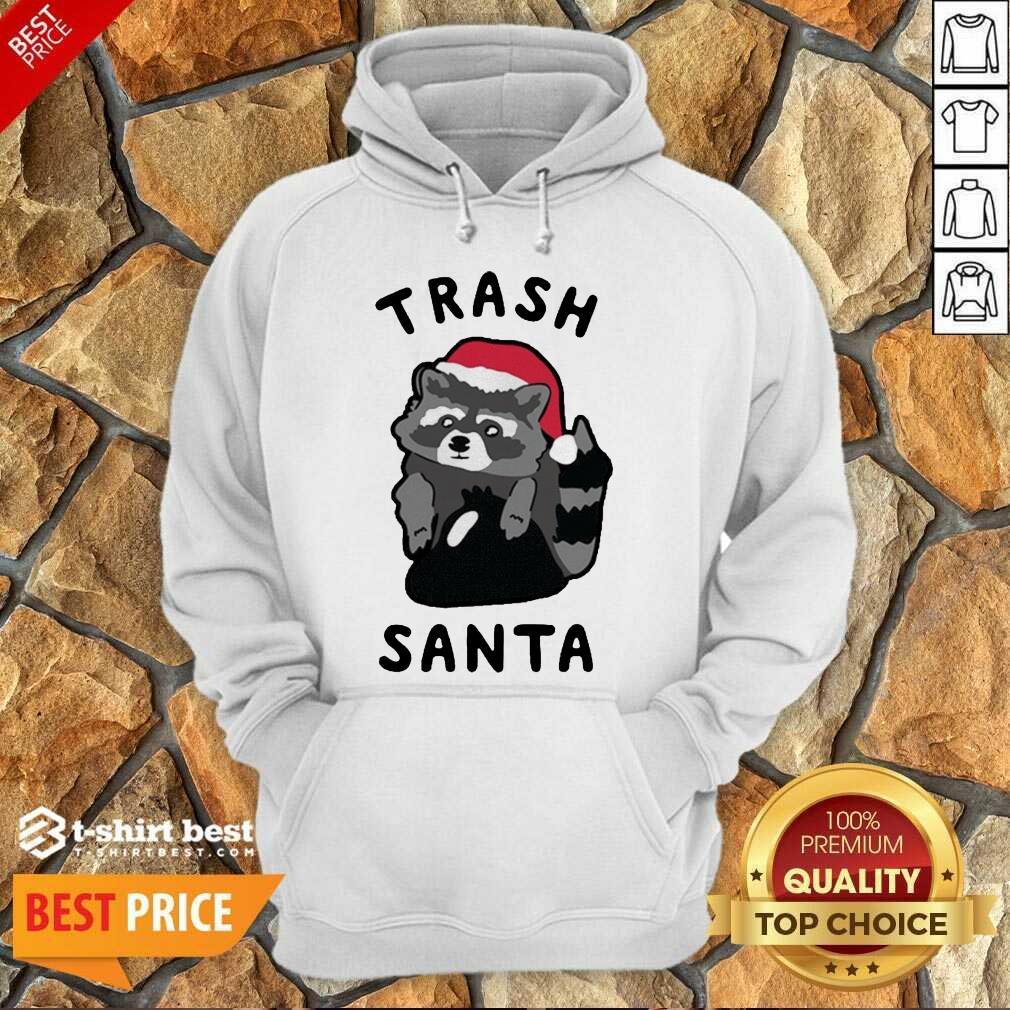 Trash Santa Merry Christmas Hoodie - Design By 1tees.com