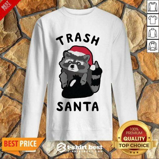Trash Santa Merry Christmas Sweatshirt - Design By 1tees.com