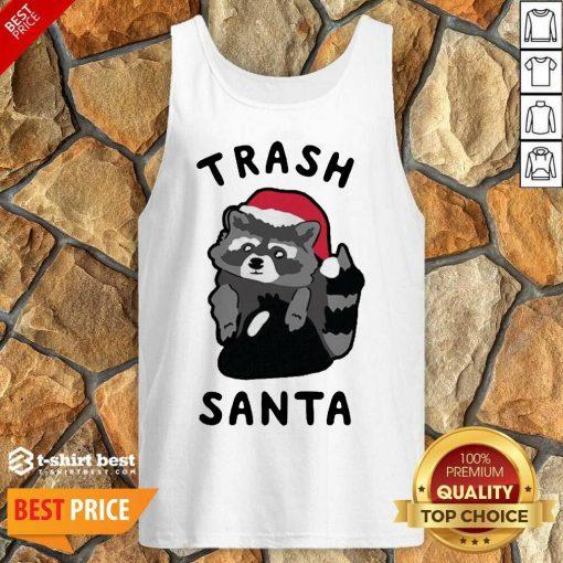 Trash Santa Merry Christmas Tank Top - Design By 1tees.com