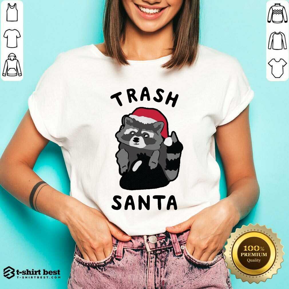 Trash Santa Merry Christmas V-neck - Design By 1tees.com