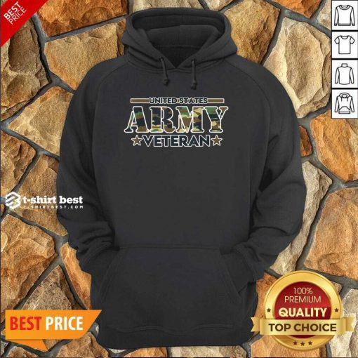 United St ates Army Veteran Hoodie- Design By 1tees.com