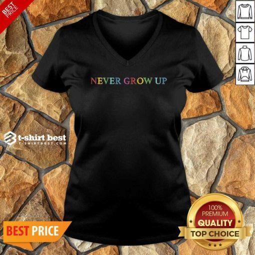 Baylen Levine Merch Never Grow Up V-neck - Design By 1tees.com
