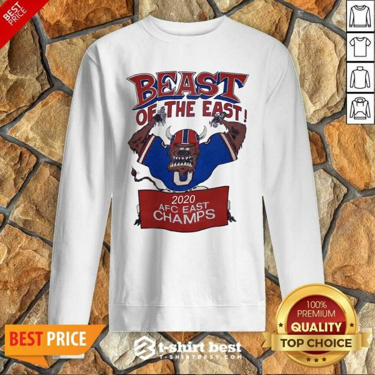 Beast Of The East 2020 Afc East Champs Sweatshirt - Design By 1tees.com