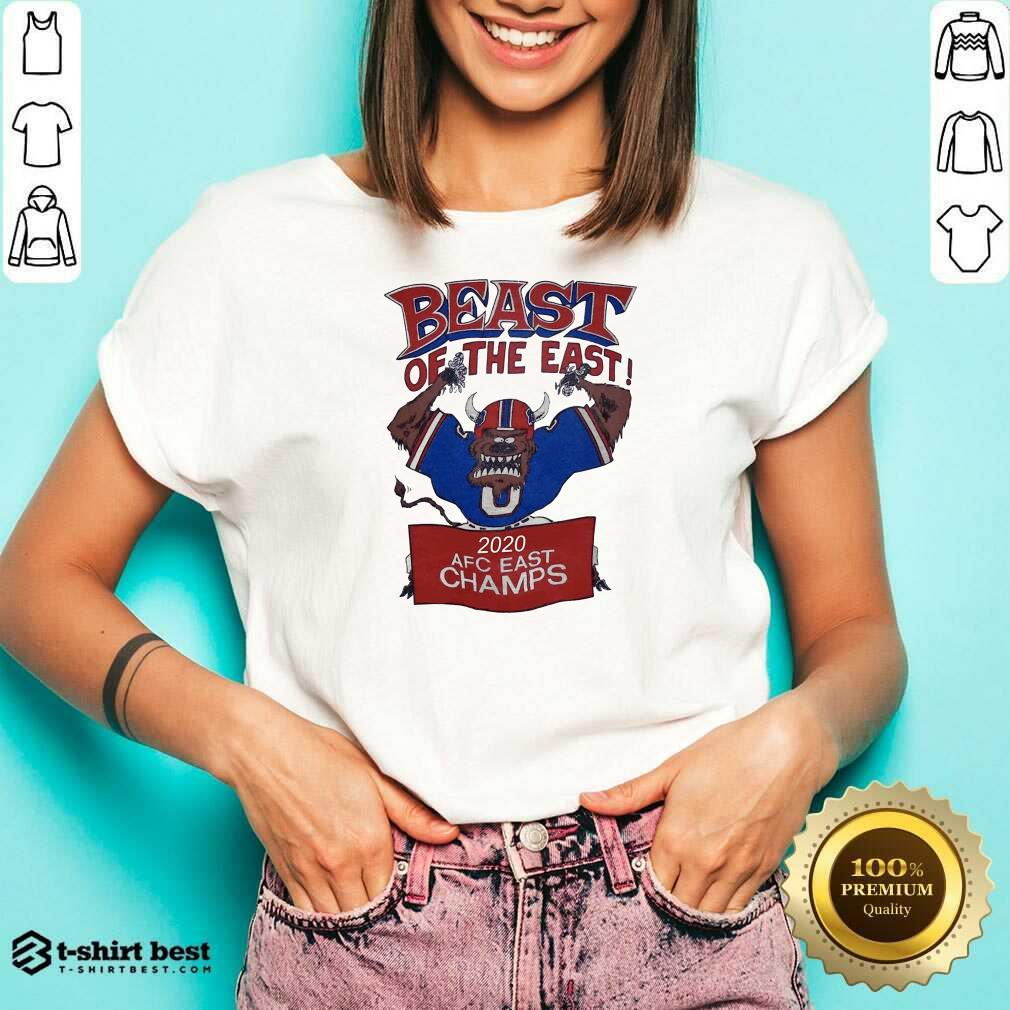 Beast Of The East 2020 Afc East Champs V-neck - Design By 1tees.com
