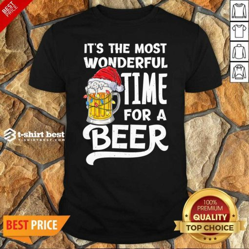 Original Beer Hat Santa It's The Most Wonderful Time For A Shirt - Design By 1tees.com