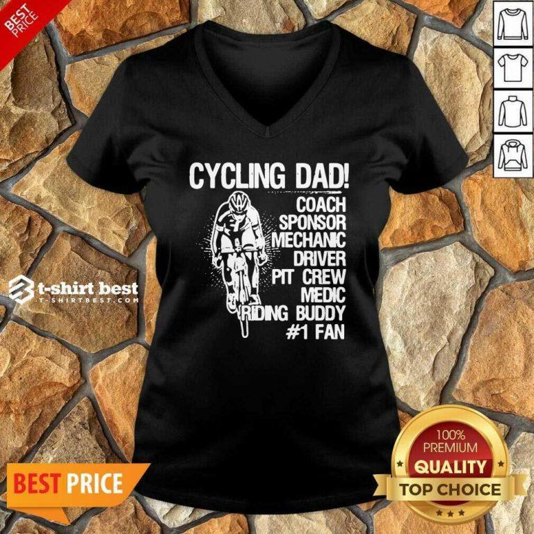 Cycling Dad Coach Sponsor Mechanic Driver Pit Crew Medic Riding Buddy V-neck - Design By 1tees.com