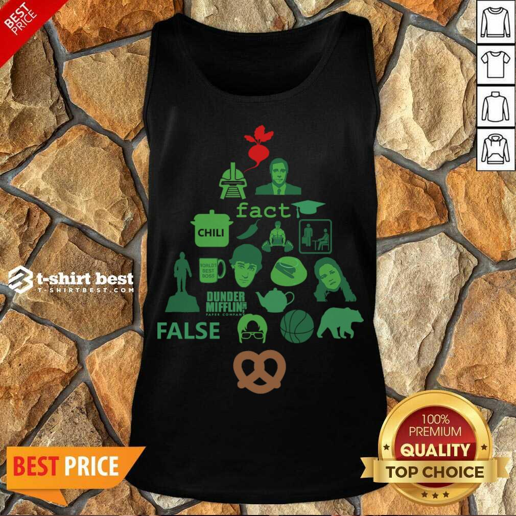 Dunder Mifflin The Office Christmas Tree Tank Top - Design By 1tees.com