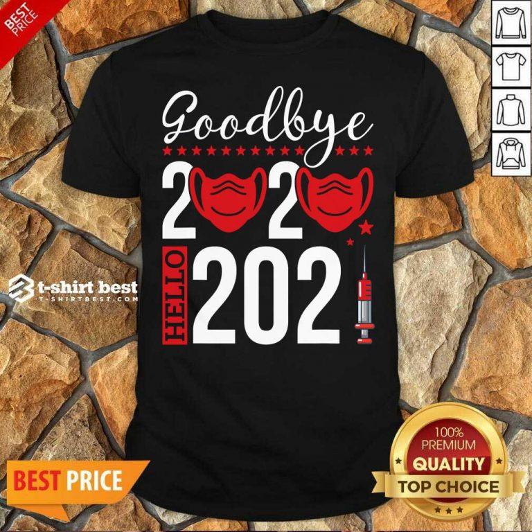 Original Goodbye 2020 Hello 2021 Mask Vaccine -Happy New Year Eve Shirt - Design By 1tees.com