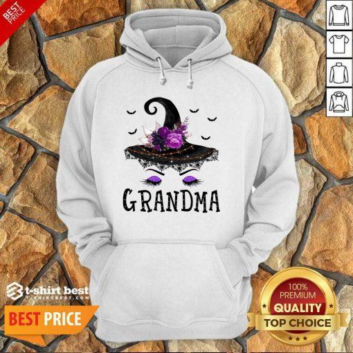 Grandma Witch Hat Halloween Hoodie - Design By 1tees.com