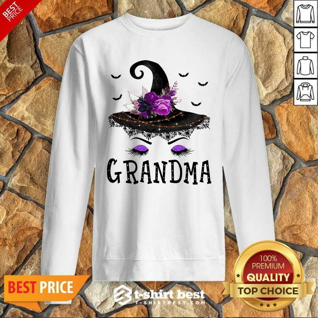 Grandma Witch Hat Halloween Sweatshirt - Design By 1tees.com