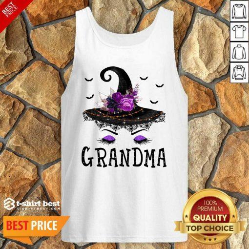 Grandma Witch Hat Halloween Tank Top - Design By 1tees.com