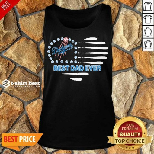 Los Angeles Dodgers Best Dad Ever Tank Top - Design By 1tees.com