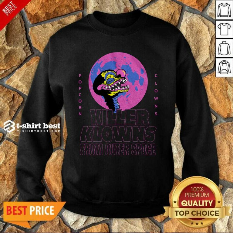 Popcorn Clowns Killer Klowns From Outer Space Sweatshirt - Design By 1tees.com