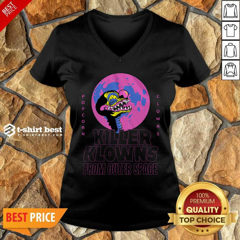 Popcorn Clowns Killer Klowns From Outer Space V-neck - Design By 1tees.com