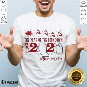 Original The Year Of The Lockdown 2020 #Nurselife Merry Christmas Shirt - Design By 1tees.com