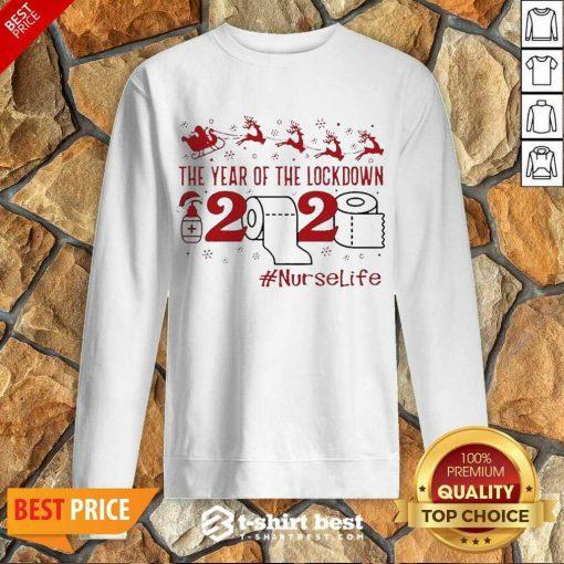 The Year Of The Lockdown 2020 #Nurselife Merry Christmas Sweatshirt - Design By 1tees.com