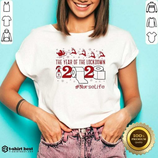The Year Of The Lockdown 2020 #Nurselife Merry Christmas V-neck - Design By 1tees.com