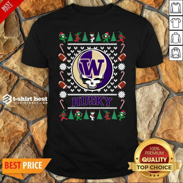 Original Washington Huskies Grateful Dead Ugly Christmas Shirt - Design By 1tees.com