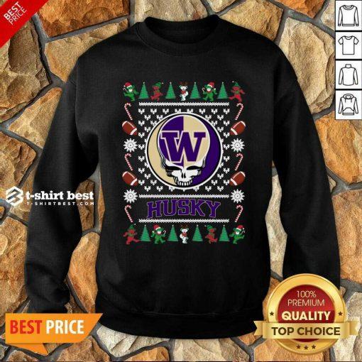Washington Huskies Grateful Dead Ugly Christmas Sweatshirt - Design By 1tees.com
