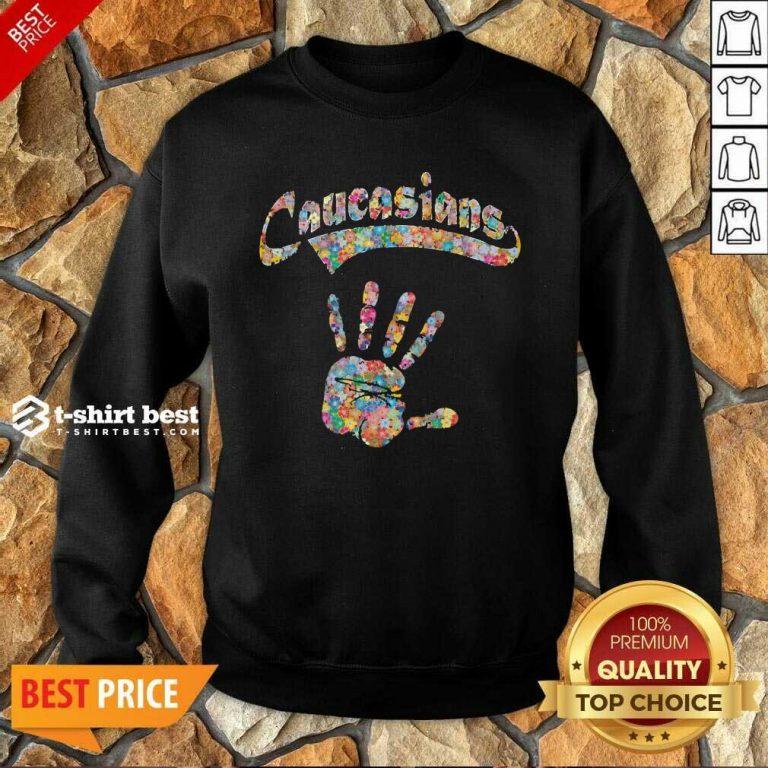 Floral Hand Caucasians Sweatshirt - Design By 1tees.com