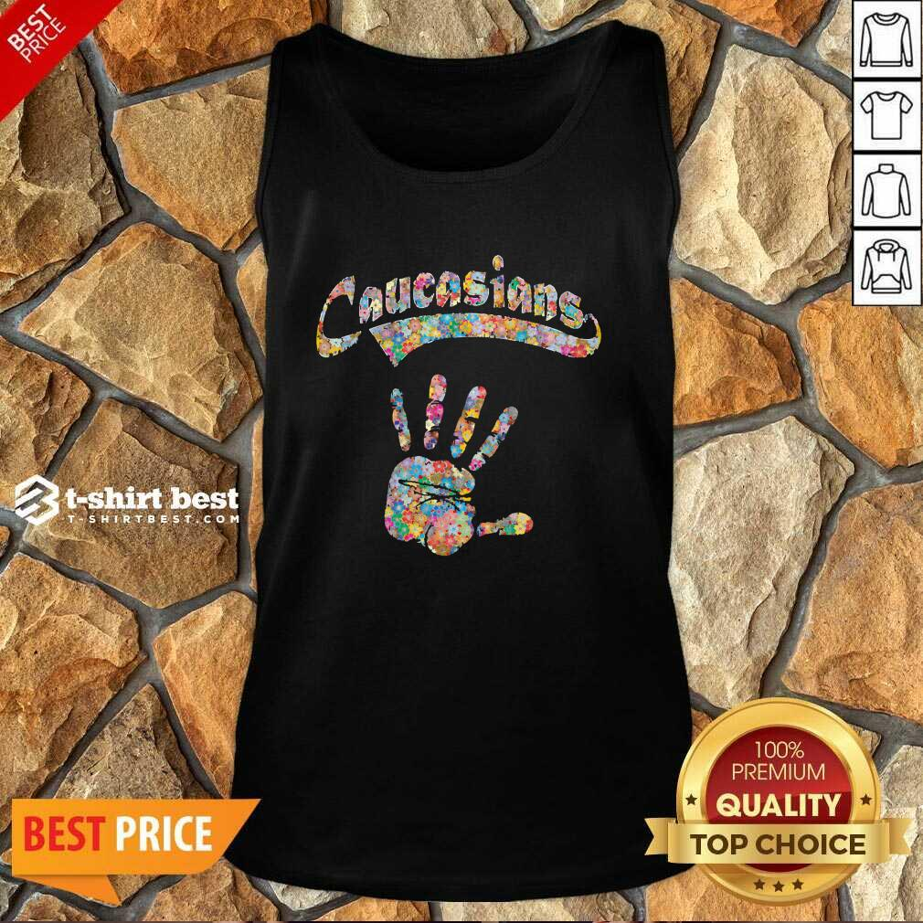 Floral Hand Caucasians Tank Top - Design By 1tees.com