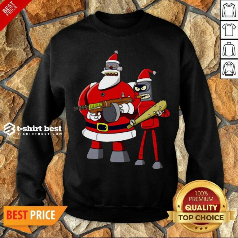 Future Futurama Ugly Christmas Sweatshirt - Design By 1tees.com