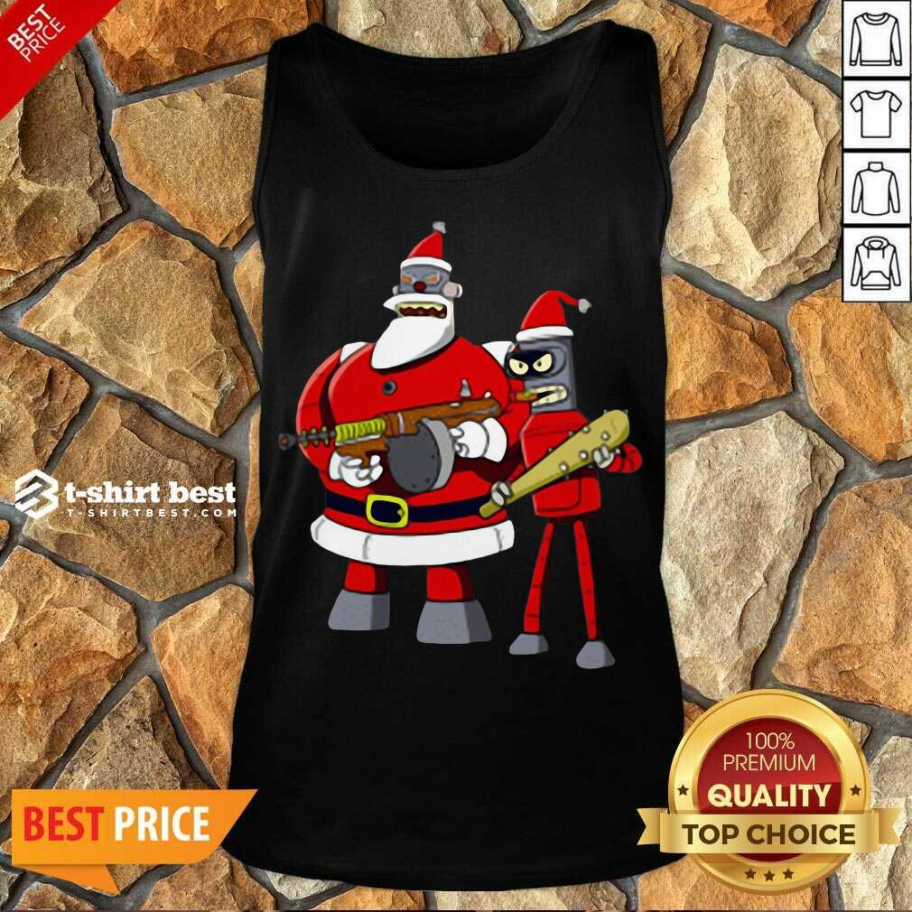 Future Futurama Ugly Christmas Tank Top - Design By 1tees.com
