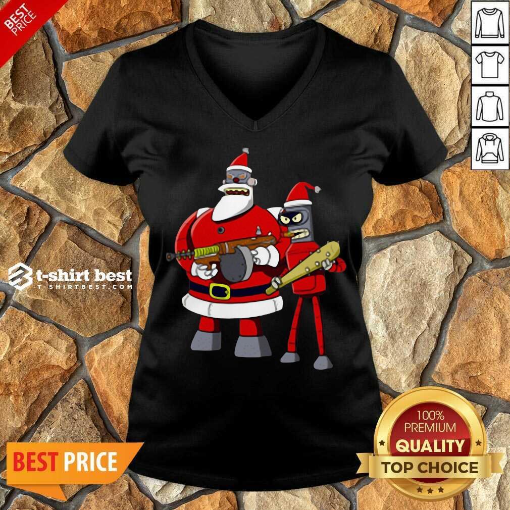 Future Futurama Ugly Christmas V-neck - Design By 1tees.com