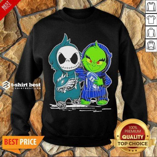 Jack Skellington Philadelphia Eagles And The Grinch Duke Basketball Sweatshirt - Design By 1tees.com