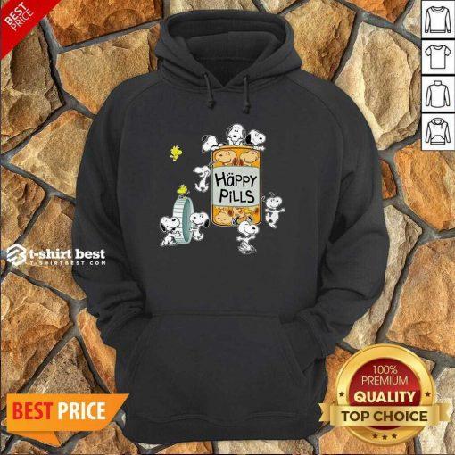 Snoopy And Woodstock Happy Pills Hoodie - Design By 1tees.com