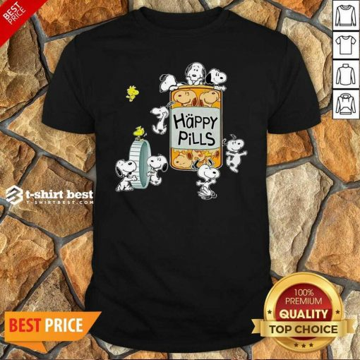 Snoopy And Woodstock Happy Pills Shirt - Design By 1tees.com