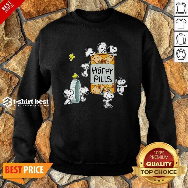 Snoopy And Woodstock Happy Pills Sweatshirt - Design By 1tees.com