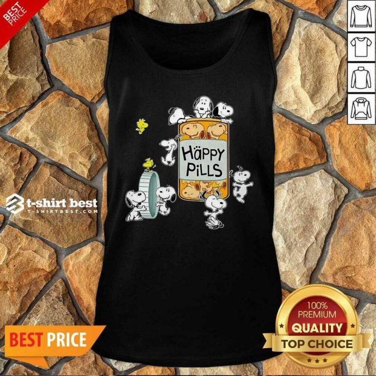 Snoopy And Woodstock Happy Pills Tank Top - Design By 1tees.com